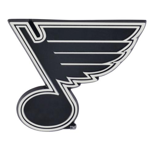 Set of 2 NHL St. Louis Blues Chrome Emblem Automotive Stick-On Car Decal - IMAGE 1