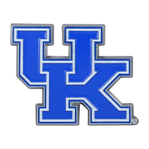 "Set of 2 Blue NCAA University of Kentucky Wildcats Emblem Stick-on Car Decals 2"" x 3"" - IMAGE 1"