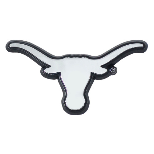 """Set of 2 White and black NCAA University of Texas Longhorns Automotive Stick-On Car Decals 1.5"""" x 3"""" - IMAGE 1"""
