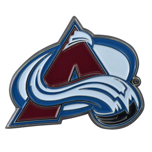 "Set of 2 Blue NHL Colorado Avalanche Emblem Stick-on Car Decals 3"" x 3"" - IMAGE 1"