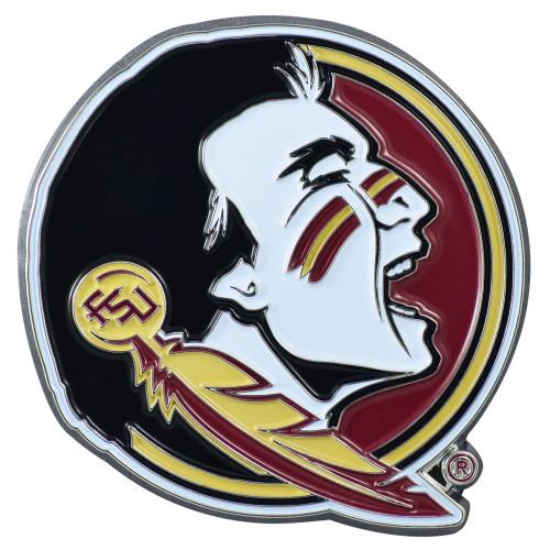 "Set of 2 Black NCAA Florida State University Seminoles Emblem Stick-on Car Decals 3"" x 3"" - IMAGE 1"