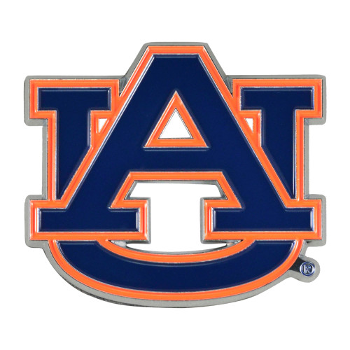 "Set of 2 Blue NCAA Auburn University Tigers Emblem Stick-on Car Decals 2.5"" x 3"" - IMAGE 1"
