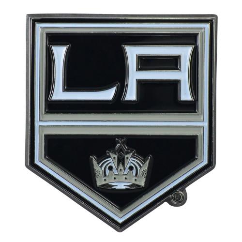 "Set of 2 Black NHL Los Angeles Kings Emblem Stick-on Car Decals 3"" x 3"" - IMAGE 1"