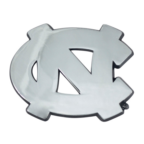 """Set of 2 Silver NCAA Chapel Hill Tar Heels Stick-On Car Decals 2.5"""" x 3"""" - IMAGE 1"""