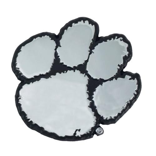 "Set of 2 White NCAA Clemson University Tigers Emblem Automotive Stick-On Car Decals 3"" x 3"" - IMAGE 1"
