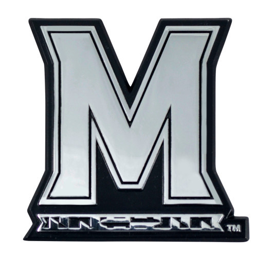 """Set of 2 White and Black NCAA University of Maryland Terps Automotive Stick-On Car Decals 3"""" x 3"""" - IMAGE 1"""