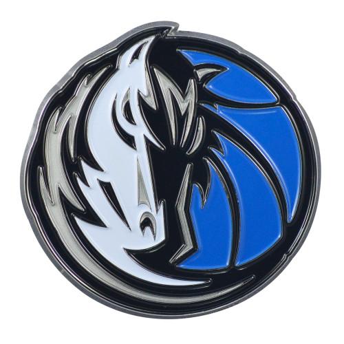 "Set of 2 Blue and Black NBA Dallas Mavericks Emblem Stick-on Car Decals 3"" x 3"" - IMAGE 1"