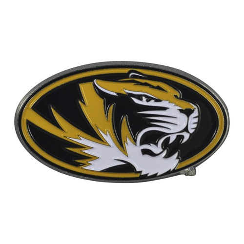 "Set of 2 Black NCAA University of Missouri Tigers Emblem Stick-on Car Decals 1.75"" x 3"" - IMAGE 1"