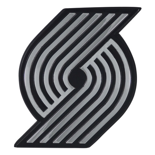 "Set of 2 Black and White NBA Portland Trail Blazers Emblem Automotive Stick-On Car Decals 2.5"" x 3"" - IMAGE 1"
