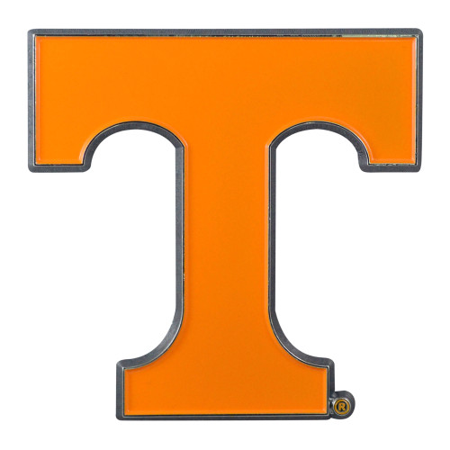 """Set of 2 Yellow NCAA University of Tennessee Volunteers Emblem Stick-on Car Decals 2.75"""" x 3"""" - IMAGE 1"""