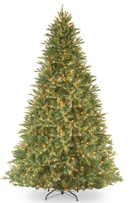 9' Pre-Lit Tiffany Fir Artificial Christmas Tree – Clear lights - IMAGE 1