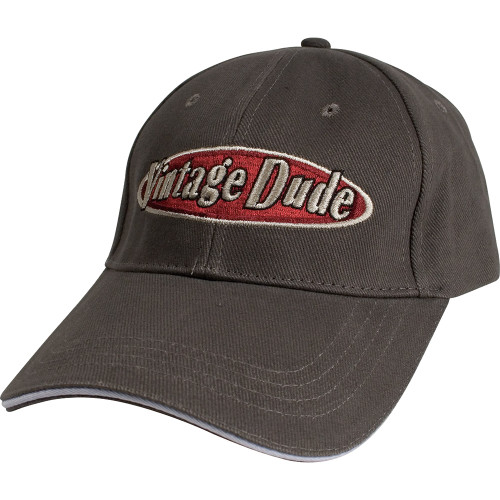 """Pack of 3 Brown and Red """"vintage Dude"""" Embroidered Pattern Cap 9.25"""" - IMAGE 1"""