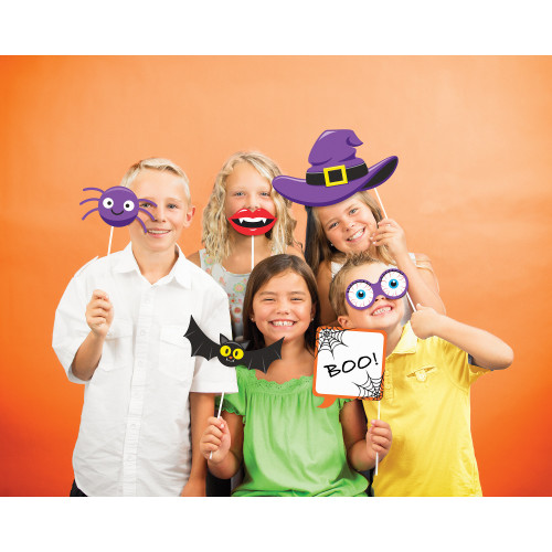 """Club Pack of 60 Black and Yellow Halloween Party Fun Photo Props 15"""" - IMAGE 1"""