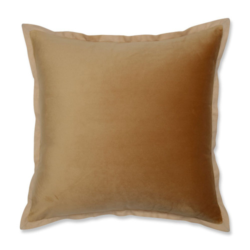 """18"""" Umber Gold Solid Contemporary Square Throw Pillow - IMAGE 1"""