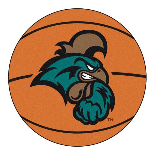 "27"" Brown and Teal Blue NCAA Coastal Carolina Chanticleers Spherical Mat - IMAGE 1"