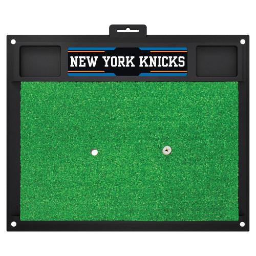 "20"" x 17"" Black and Green NBA New York Knicks Golf Hitting Mat - IMAGE 1"