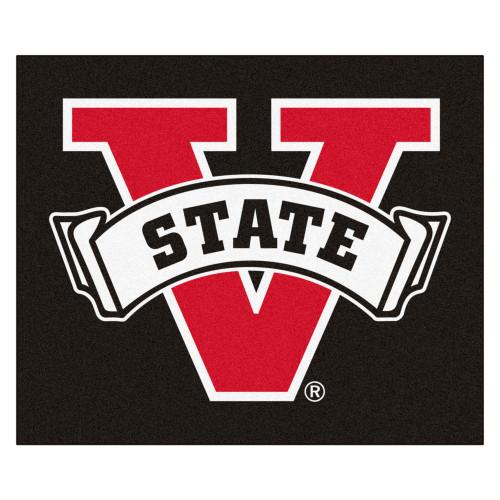 4.9' x 5.9' Black and Red NCAA Valdosta State University Blazers Tailgater Area Rug - IMAGE 1