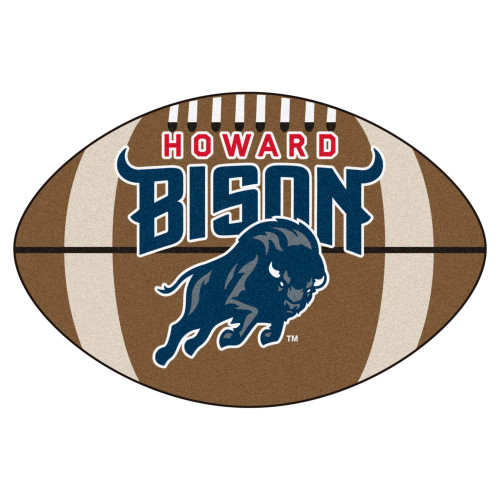 """20.5"""" x 32.5"""" Brown and Blue NCAA Howard University Bison Mat Area Rug - IMAGE 1"""