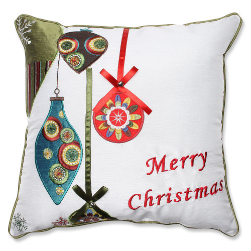 """16.5"""" Pillow Perfect Indoor Holiday Ornaments Throw Pillow - IMAGE 1"""
