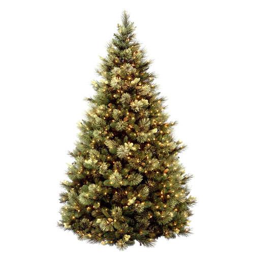 7.5 ft. Carolina Pine Tree with Clear Lights - IMAGE 1
