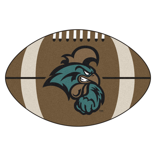 "20.5"" x 32.5"" Brown and Teal Blue NCAA Coastal Carolina Chanticleers Mat - IMAGE 1"