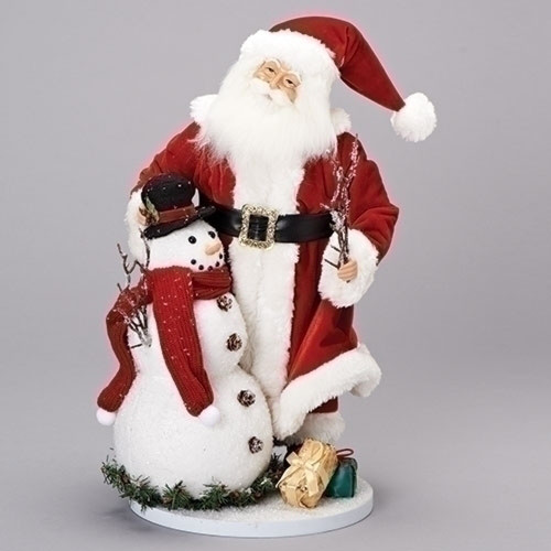 "19"" Santa and Snowman Tabletop Christmas Decor Figurine with Gifts - IMAGE 1"