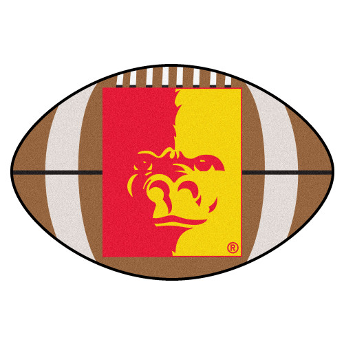 """20.5"""" x 32.5"""" Brown and Red Contemporary NCAA Pittsburgh State University Gorillas Football Mat - IMAGE 1"""