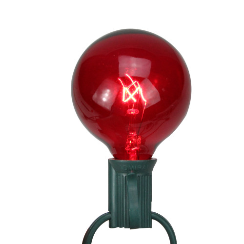Pack of 25 Red G50 Incandescent Christmas Replacement Bulbs - IMAGE 1