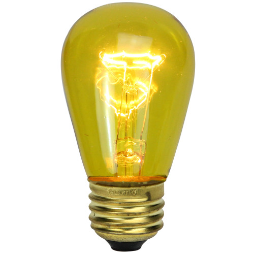 Pack of 25 Incandescent S14 Yellow Christmas Replacement Bulbs - IMAGE 1