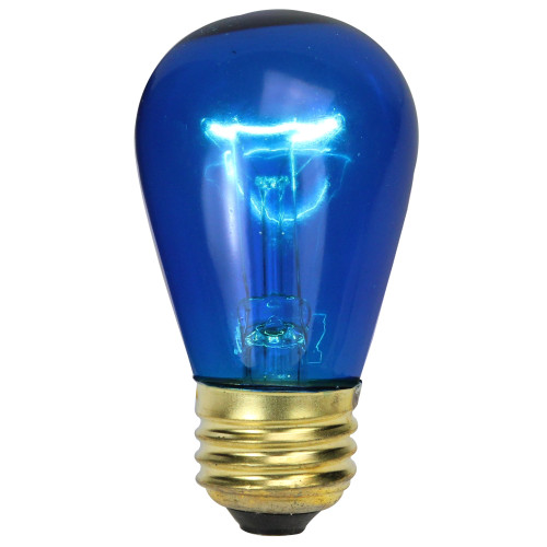 Pack of 25 Incandescent S14 Blue Christmas Replacement Bulbs - IMAGE 1