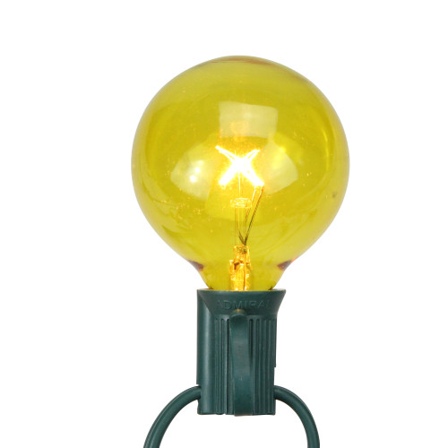 Pack of 25 Yellow G50 Incandescent Christmas Replacement Bulbs - IMAGE 1