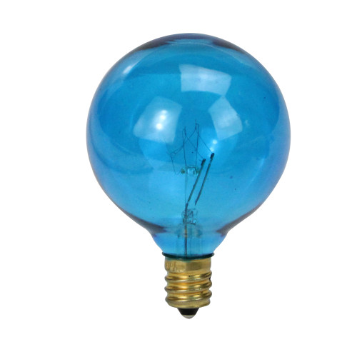 Pack of 25 Blue G50 Incandescent Christmas Replacement Bulbs - IMAGE 1