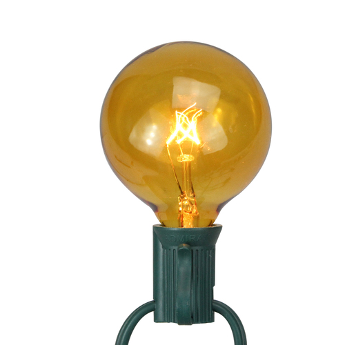Pack of 25 Amber G50 Incandescent Christmas Replacement Bulbs - IMAGE 1
