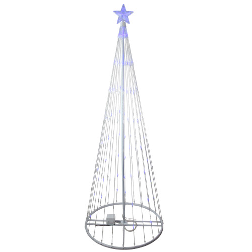 6' Blue LED Lighted Show Cone Christmas Tree Outdoor Decoration - IMAGE 1