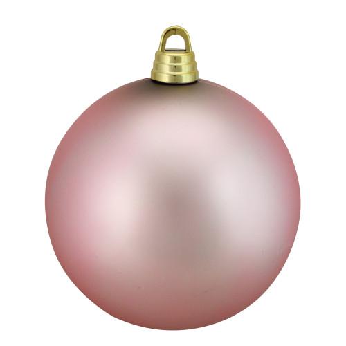 """Bubblegum Pink Matte Shatterproof Christmas Ball Ornament 12"""" (300mm) - IMAGE 1"""