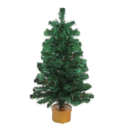 3' Pre-Lit Color Changing Fiber Optic Artificial Christmas Tree - IMAGE 1