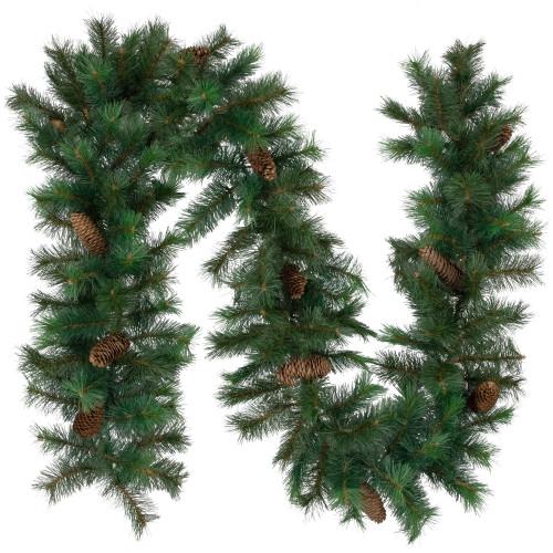"9' x 12"" Royal Oregon Fir Artificial Christmas Garland - Unlit - IMAGE 1"