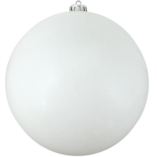 "Shiny Winter White Commercial Shatterproof Christmas Ball Ornament 10"" (250mm) - IMAGE 1"