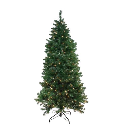 6.5' Pre-Lit Slim Eastern Pine Artificial Christmas Tree - Clear Lights - IMAGE 1