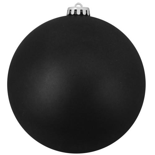 "Matte Jet Black Shatterproof Christmas Ball Ornament 10"" (250mm) - IMAGE 1"