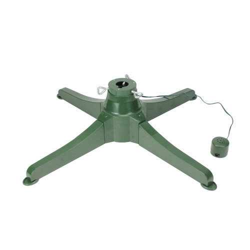 """18"""" Green Musical Rotating Christmas Tree Stand for Artificial Trees up to 7.5' - IMAGE 1"""