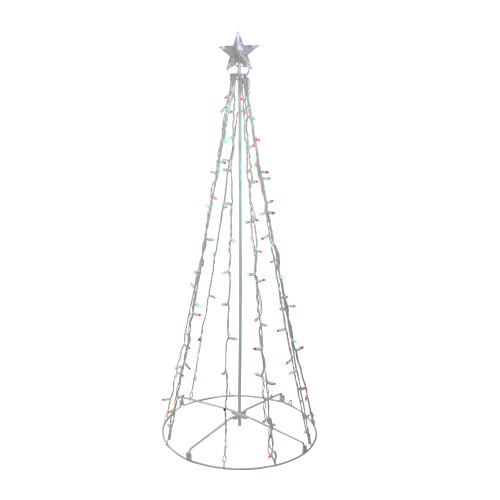 5' Red and Green LED Lighted Twinkling Christmas Tree Outdoor Decor - IMAGE 1