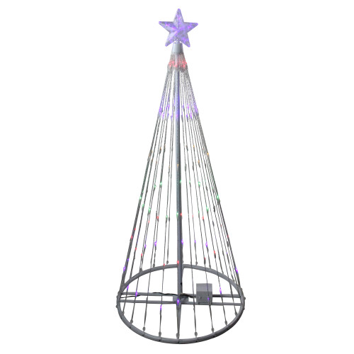 4' Multi-Color LED Lighted Show Cone Christmas Tree Outdoor Decoration - IMAGE 1