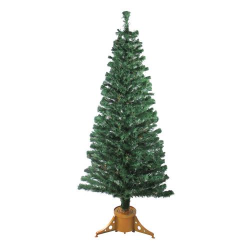 6' Pre-Lit Medium Color Changing Fiber Optic Artificial Christmas Tree - Multicolor Lights - IMAGE 1