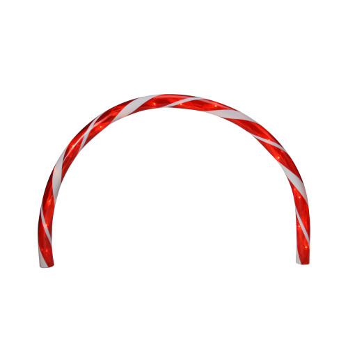 Set of 3 Candy Cane Arch Outdoor Christmas Pathway Markers - IMAGE 1