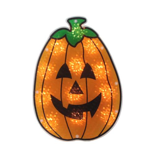 "12"" Lighted Jack-O-Lantern Halloween Window Silhouette - IMAGE 1"