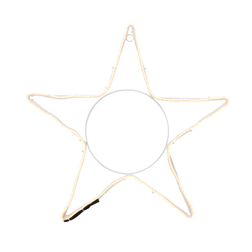 """19.75"""" Neon Style LED Lighted Star Christmas Window Silhouette Decoration - IMAGE 1"""