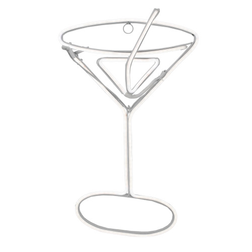 """17.25"""" Neon Style LED Lighted Pre-Lit Martini Glass Window Silhouette Decoration - IMAGE 1"""
