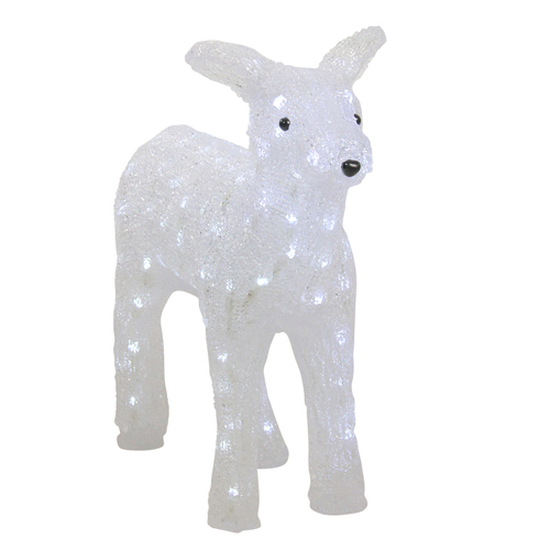 "18"" Lighted Commercial Grade Acrylic Baby Reindeer Christmas Outdoor Decoration - IMAGE 1"