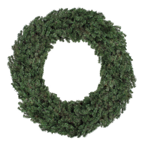 8' Commercial Size Canadian Pine Artificial Christmas Wreath - Unlit - IMAGE 1